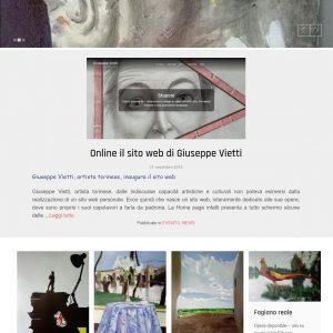 Nuovo sito dell'artista Giuseppe Vietti - Homepage