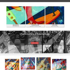 Il sitoweb del pittore Roberto Russo è online - Homepage