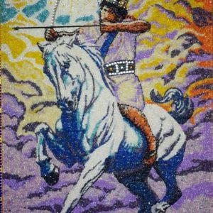 Il cavaliere della luce - Mosaico - 61x81cm