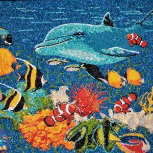 Il Delfino - Mosaico - 72x58cm