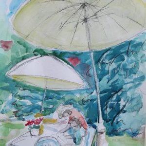 Il giardino di Ingrad,40x50 cm acquerello