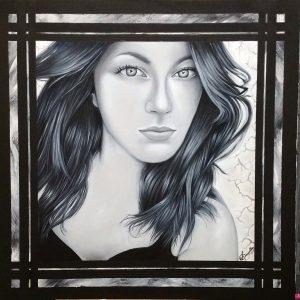 """""""Il magnetismo"""" di Anna Copponi, in arte Annella - Olio e malta su tela - 80x80cm"""