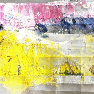 L'intervista a Enrico Vucemillo - Il sole mi costringe a dipingere - Olio, colore, pigmenti e acciaio - 40x30cm