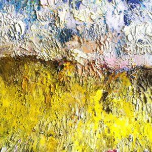 Il sole negli occhi - Olio pigmenti gesso e carboncino - 40x30cm