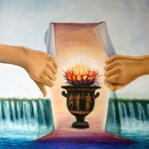 Il vaso della pandemia - Olio su tela - 80 x 100cm
