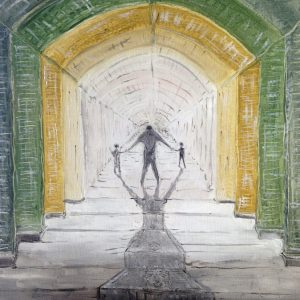 In fondo al tunnel della vita - Olio su tavola - 50x40cm
