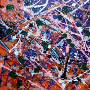 Il Coefficiente del pittore Giuseppe Grieco, in arte EditorDreams - Insomnya - Acrilico su tela - 40x40cm
