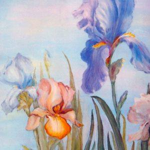 Iris - Tecnica ad olio - 50x70cm