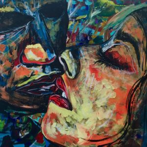 Kiss - Acrilico su tela - 80x60cm