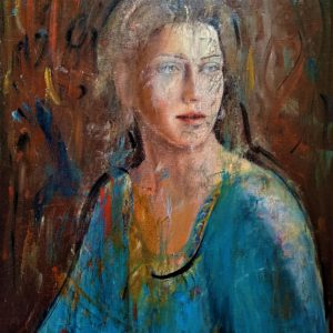 """La Dama azzurra"" - Olio su tela - 50x70cm"