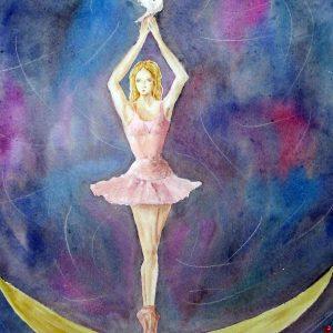 La danza - Acquarello - 50x50cm