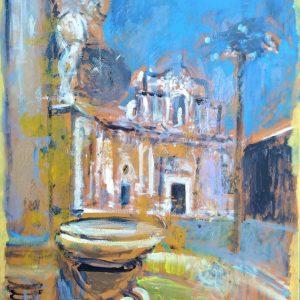 """""""La fontana dei misteri"""" - Acrilico su tela - 50x70cm"""