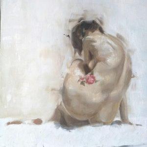 """Il Coefficiente dell'artista Massimiliano Manna, in arte Manama.lab - """"La rosa di Vassy"""" - Olio su pannello medio denso - 40x50px"""