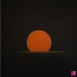 L'alba - Acrilico su supporto di legno - 50x50cm