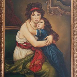 L'amore materno - Olio su tela - 80x100cm