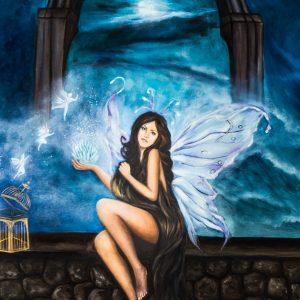 Le ali della libertà, 80x100cm, olio su tela