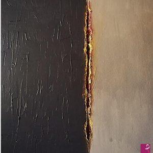 """""""Le ferite dell'inconscio (serie 2 di 5)"""" di Rosa Tondolo - Acrilico su supporto di legno - 50x50cm"""