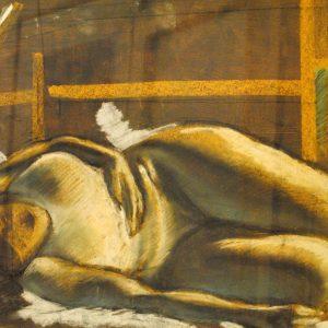 Luce e contrasti di Beppe Nicoli - Carboncino e gessetti su carta da spolvero - 70x50cm