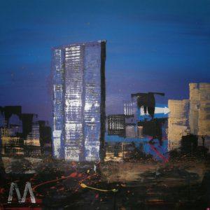 Coefficiente di valutazione artistica - M di Marco Sobrero - Acrilico su tela - 80x80cm