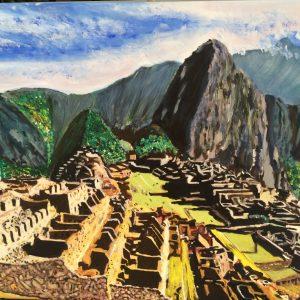 Machu Picchu, 70x50 cm, acrilico e vernice