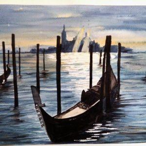 Magia a Venezia - Acquerello - 39x27cm