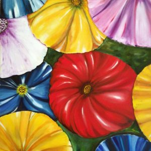 Memoria di colori - Olio su tela - 100x70cm
