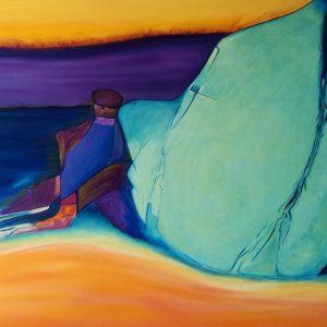 Aggiornamento del coefficiente artistico di Carla Thaler Sabaini, in arte Scarlat - Morfeo ed il viandante - Olio su tela - 150x100cm