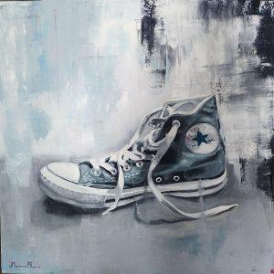 My old shoe - Olio su pannello medio denso - 50x50px