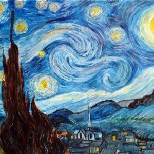 Notte stellata - Olio su tela - 50x40cm