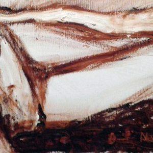 """""""Nudo"""" di Carolina Moretti - Olio su tela - 50x25cm"""