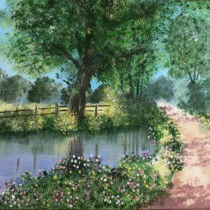 Poesia della natura - acrilico su tela - 50x30cm di Serenella Bompan