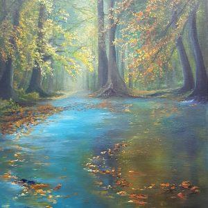 Poesie e colori, 40x60cm, olio su tela