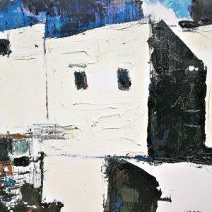Post meridiem - Pigmenti a olio, carboncino e grafite - 40x30cm