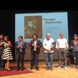 Premiazione del Premio Internazionale Arte Milano - Con Sandro Serradifalco, Vittorio Sgarbi e Nino Argentati