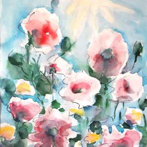 Promuovere l'arte - Primavera - 50x75cm - acquerello