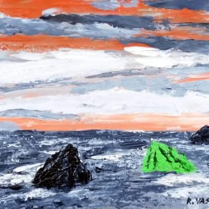 Quadri Situazionali: Speranza 2 di Riccardo Vaskedi - Acrilico a spatola su legno - 40x30cm