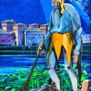 Rigoletto - Tecnica mista - 105x156cm - Coefficiente d'artista di Vittorio Rainieri