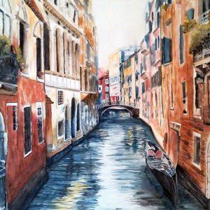 Romantica Venezia - Acquerello - 150x103cm - Assegnazione del Coefficiente d'Artista a Silvia De Martin