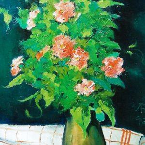 Romantico Bouquet - Olio su tela di lino - 46x55cm