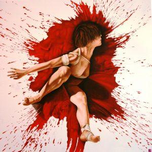Rosso Impeto - 140x140cm - Olio su tela