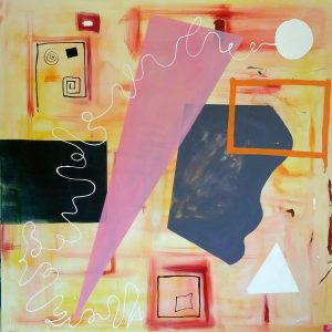 Promozione degli artisti: Sfera bianca - 150x150cm - Tecnica mista su tela di Francesco Cannone