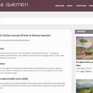 Il sito d'artista di Silvana Guerrieri - Critiche