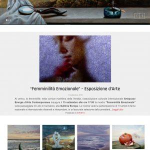 Il sito d'arte personale di Marco Creatini - Pagina principale
