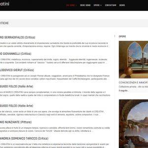 Il sito d'arte personale di Marco Creatini - Critiche