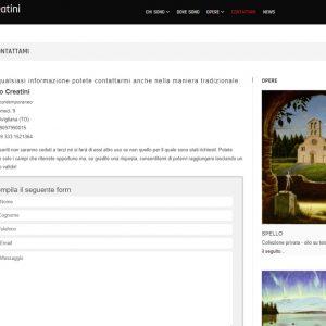 Il sito d'arte personale di Marco Creatini - Contatti