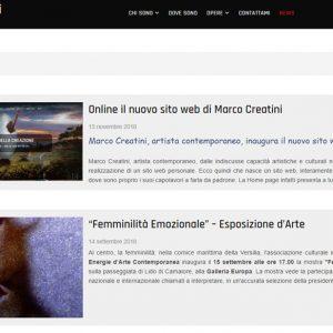 Il sito d'arte personale di Marco Creatini - News