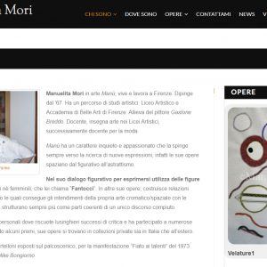 Il sito d'arte personale di Manuelita Mori - Biografia