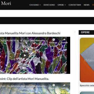 Il sito d'arte personale di Manuelita Mori - Video