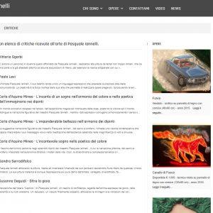 Il sito web d'artista di Pasquale Iannelli - Critiche