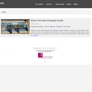 Il sito web d'artista di Pasquale Iannelli - News